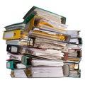 Three piles of file binder Stock Photo