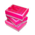 Three pink gift box Royalty Free Stock Photo