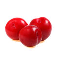 Three plums Royalty Free Stock Photo