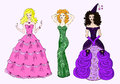 Three princesses Royalty Free Stock Photo