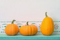 Three Pumpkins Royalty Free Stock Photo