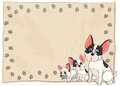 The three puppies illustration of on a white background Royalty Free Stock Images