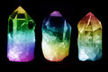 Three quartz crystals Royalty Free Stock Photo