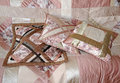Three quilted pillows Royalty Free Stock Image