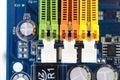 Three RAM DIMM slots Royalty Free Stock Photo