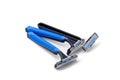 Three razors with Royalty Free Stock Photo