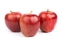 Three red apples isolated Royalty Free Stock Photo