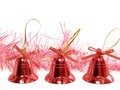 Three red handbell Stock Image