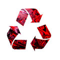 Three red recycle arrows Royalty Free Stock Photography