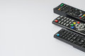 Three remote for control electrical power Royalty Free Stock Photo
