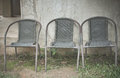 Three retro chair Royalty Free Stock Photo