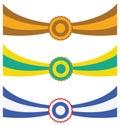 Three ribbons Stock Images