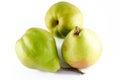Three ripe pears isolated on white background studio Royalty Free Stock Photos