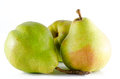 Three ripe pears isolated on white background studio Royalty Free Stock Photography