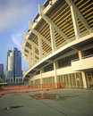 Three Rivers Stadium, Cincinnati, OH Royalty Free Stock Photo