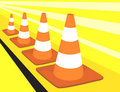 Three rod divider cones Royalty Free Stock Photo