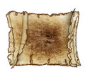 Three  rough antique parchment paper scrolls Royalty Free Stock Photos