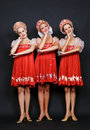 Three russian beauties Royalty Free Stock Images