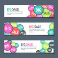 Three Sales Banners Royalty Free Stock Photo