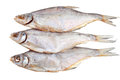 Three salt dried fish Stock Images
