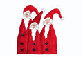 Three santa claus, childrens painting Royalty Free Stock Photo