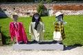 Three Scarecrows Royalty Free Stock Photo