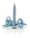 Three screws isolated Royalty Free Stock Photo