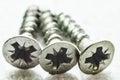 Three screws Royalty Free Stock Photo