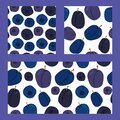 Three seamless pattern with blueberries and plums