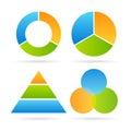 Three segment diagram Royalty Free Stock Photo
