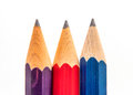 Three sharp pencils thick colorful Royalty Free Stock Photos