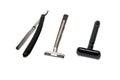 Three shavers razor Royalty Free Stock Photo