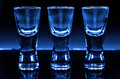 Three shot glasses Royalty Free Stock Photography
