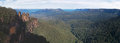 Three sister from echo point new south wales and state forrest australia Royalty Free Stock Photos