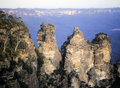 Three sisters the in the blue mountains of nsw australia Stock Photography