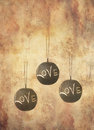 Three slate balls with message Royalty Free Stock Photography