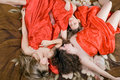 Three sleeping beautiful girls Royalty Free Stock Photos