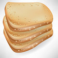 Three slices of bread Royalty Free Stock Image