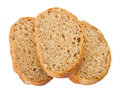 Three slices of bread Royalty Free Stock Images