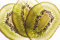 Three Slices of Kiwi Stock Image