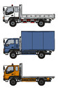 Three small trucks Royalty Free Stock Photo
