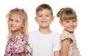 Three smiling children Royalty Free Stock Images