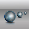 Three spheres on a gray background Stock Image
