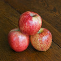 Three Stacked Gala Apples Royalty Free Stock Images
