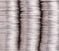 Three stacks of coins Royalty Free Stock Photo