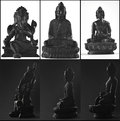 Three statues of gods from asia Royalty Free Stock Photo