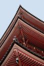 Three-Storied Pagoda at Kiyomizudera Temple Stock Photo