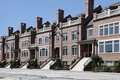 Three story brick town houses Stock Photo