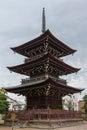 Three story pagoda at Hikakokubun-ji Buddhist Temple.