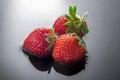 Three strawberries Royalty Free Stock Photo
